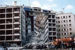 A view of the damage to the U.S. Embassy after the bombing